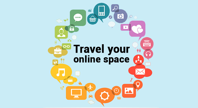 Travel your online space: